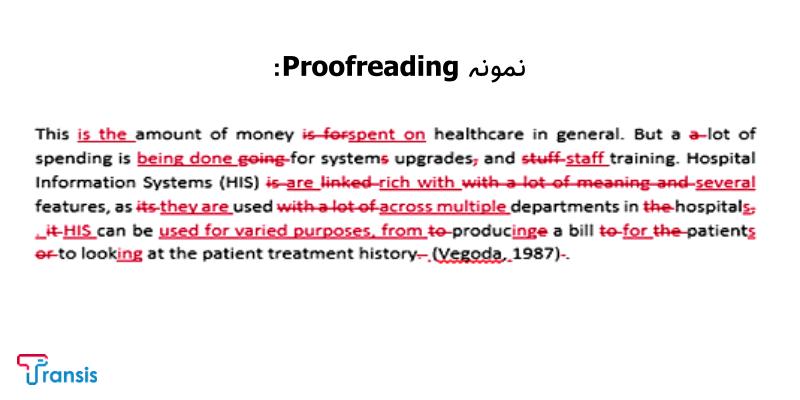 proofreading چیست؟